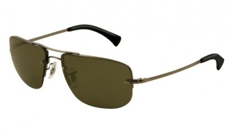 ray-ban-occhiali-da-sole-rettangolari-in-metallo